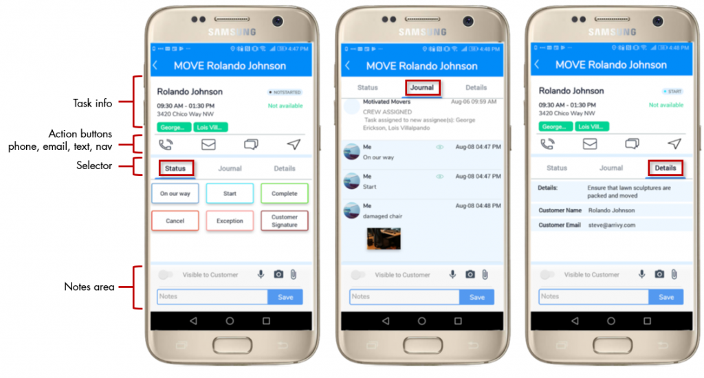 Arrivy's mobile apps
