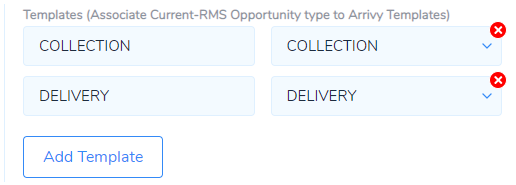 Mapping Current RMS events to Arrivy templates
