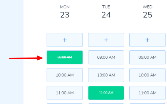 Slot Booked by Admin or Scheduler